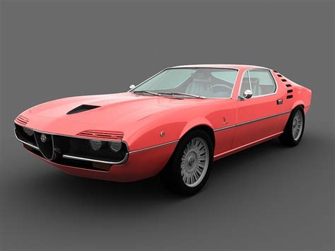 alfa romeo montreal 1970 3d model max cgtrader