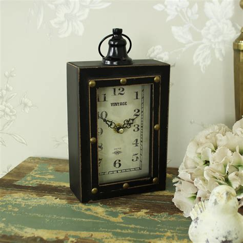 small brown desk small vintage brown desk clock melody maison 174
