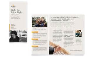 legal advocacy tri fold brochure template word amp publisher