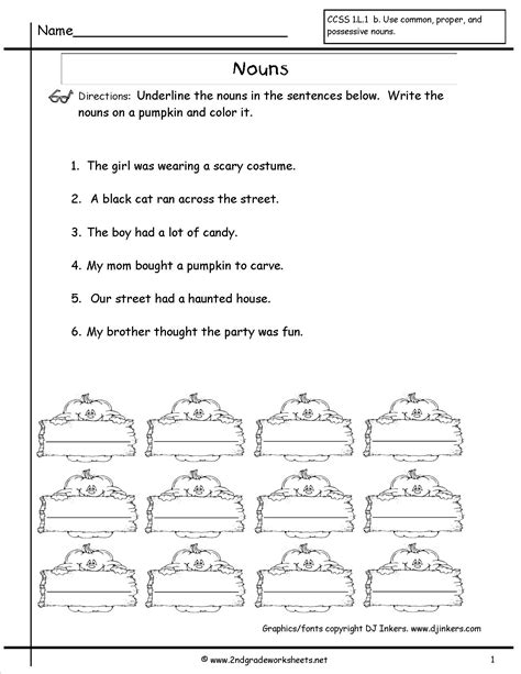 Nouns Worksheet by Nouns Worksheets And Printouts