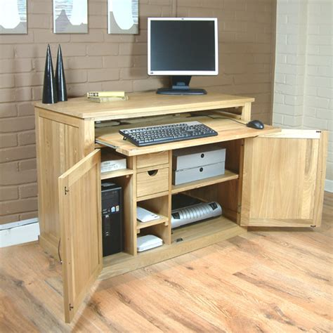 hidden office desk fusion solid oak furniture hidden home office computer