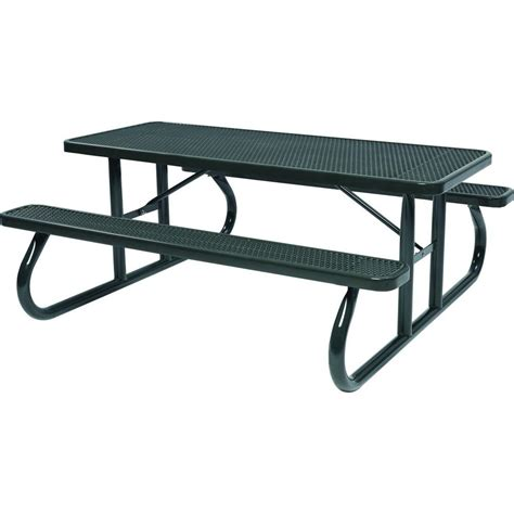 picnic tables with benches lifetime 6 ft folding picnic table with benches 22119