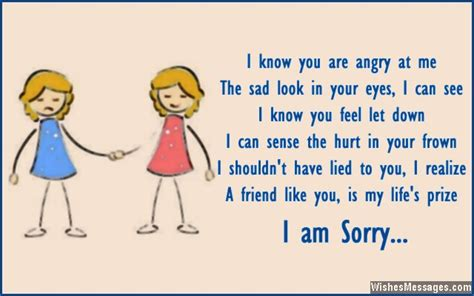 Apology Letter To My Best Friend I Am Sorry Messages For Friends Apology Quotes And Notes Wishesmessages