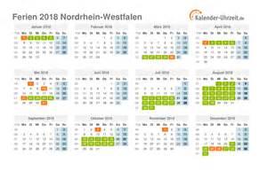 Kalender 2018 Ferien Feiertage Thüringen Ferien Nordrhein Westfalen 2018 Ferienkalender Zum