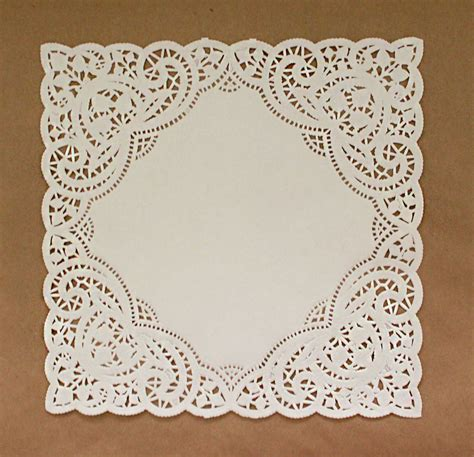 Paper Doilies - 100 square paper doilies 10 inch white envelope ready