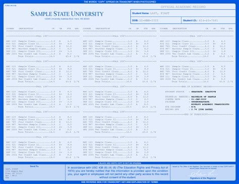 free college transcript template college transcripts custom college