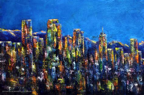 paint nite denver downtown denver lights painting by godshalk