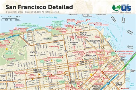 san francisco map to print san francisco california maps california