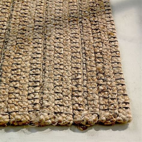 Braided Jute Rug by Braided Stripe Jute Rug Modern Rugs By West Elm