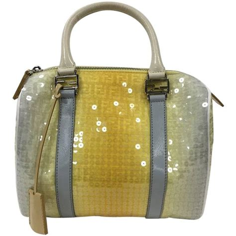 Fendi Sequin And Wool Embellished Purse by Fendi Boston Sequin Embellished Zucchino Coated Canvas