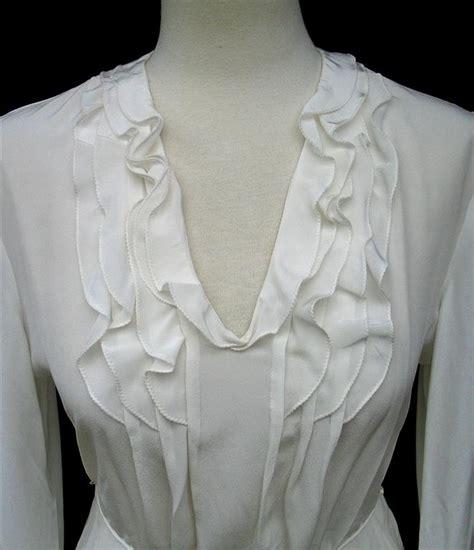Venetta Blouse Limited t tahari by elie tahari ivory silk potter ruffled blouse top nwt ebay