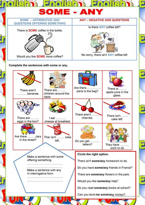 welcome to english some any quantifiers english esl