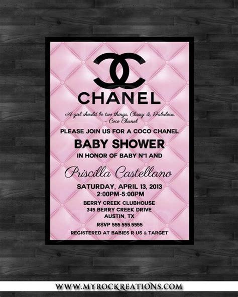 Baby Shower Baby Shower Pinterest Chanel Invitation Template