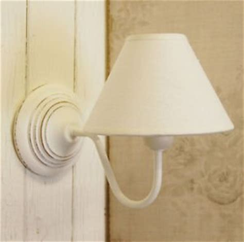 country shabby chic white wooden wall light with