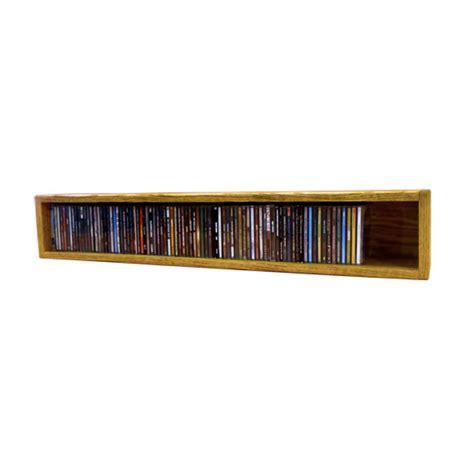 Solid Wood Cd Rack by Wood Shed Solid Oak Cd Storage Rack 94 Cd Capacity 103 3