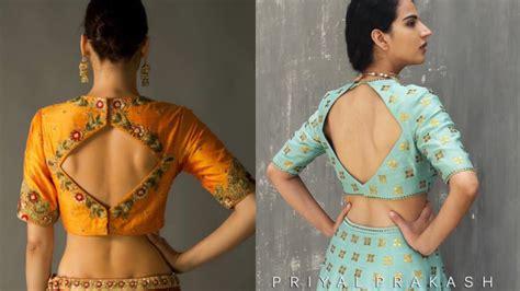New Blouse Style8 saree blouse designs shape blouse back design ideas modern blouse designs for