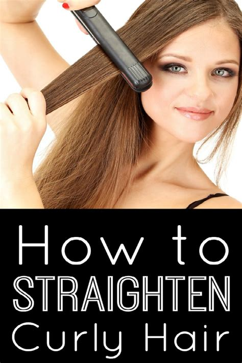 Dryer To Straighten Curly Hair how to straighten curly hair naturally at home