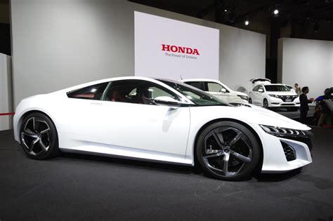 new honda sports car tokyo 2013 honda nsx concept in white live photos