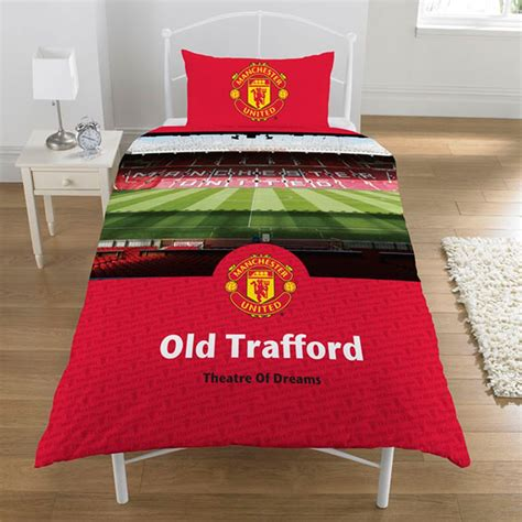 manchester united fc duvet cover old trafford football