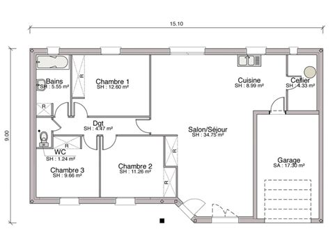 Plan Maison 5 Chambres 3918 le plan d une maison stunning dessiner un plan de maison