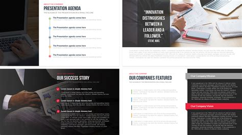 business profile template ppt company profile free powerpoint template slidebazaar
