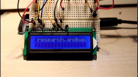 lcd display arduino mega  youtube