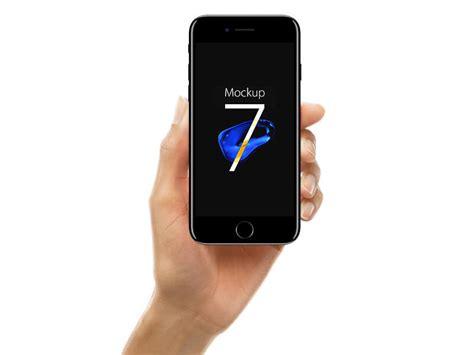 3 iphone mockup iphone 7 jet black mockup psd