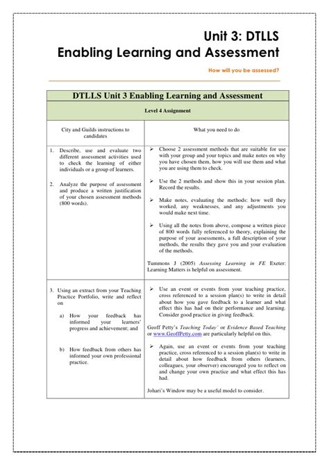 lesson plan template city and guilds week 1 unit 3 intro and theories of formative and