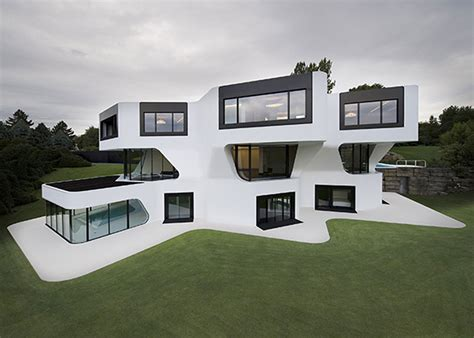 modern home design germany contemporary residence with futuristic design in germany