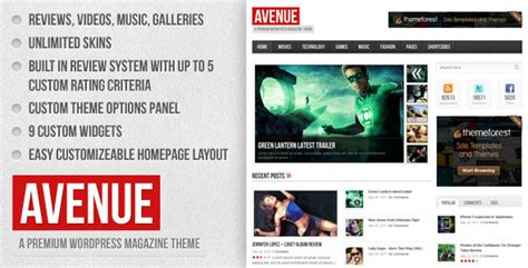change layout of wordpress blog avenue a wordpress magazine themeforest theme