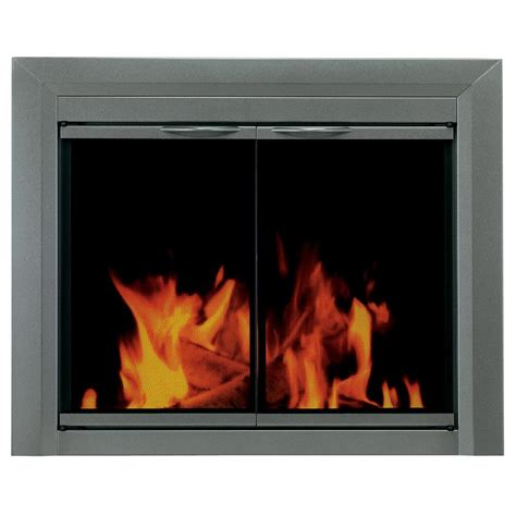 Pleasant Hearth Glass Fireplace Doors Pleasant Hearth Craton Small Glass Fireplace Doors Cr 3400 The Home Depot