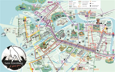 st map petersburg transport map