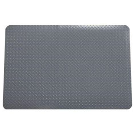 Home Depot Floor Mat by G Floor Slate Grey 32 In X 47 In Polyvinyl Neoprene Anti Fatigue Mat Af12dt3247sg The Home Depot