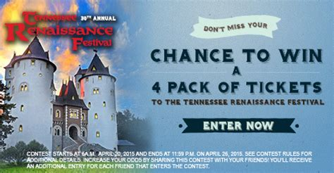 Tennessee Sweepstakes Law - facebook contest tickets to tennessee renaissance festival wkrn news 2