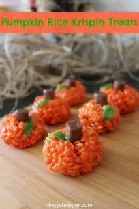 make pumpkin rice krispie treats for halloween craft gossip bloglovin