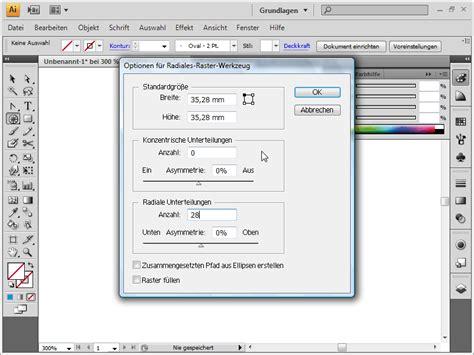 adobe illustrator tutorial zeichnen illustrator spirale zeichnen illustrator raster linien