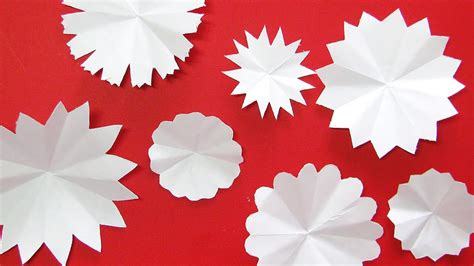 Beautiful Paper Flowers - easily cut beautiful paper flowers diy crafts