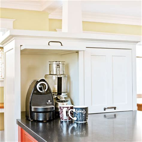 prevent countertop clutter a kitchen with craftsman