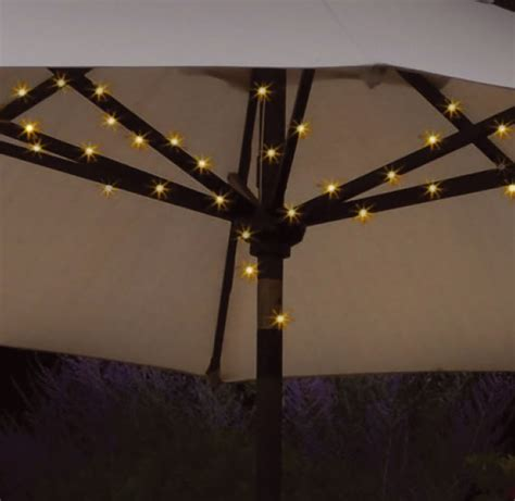 New 72 Led Solar Garden Parasol Umbrella Chain Light 8 Umbrella Light String