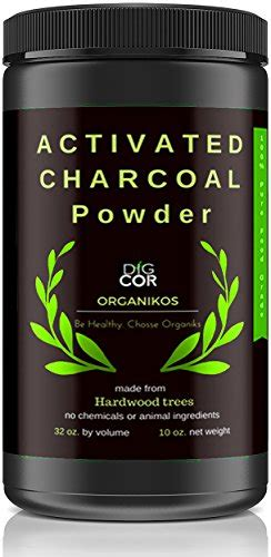 activated charcoal powder  digcor organikos large jar