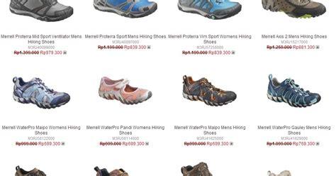 Daftar Sepatu Merek Chion daftar harga sepatu merrel original terbaru 2016