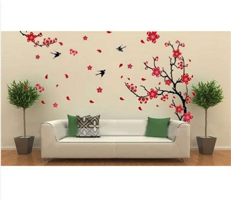 temporary wall stickers hotportgift large plum blossom flower removable wall sticker decor decal room background 70