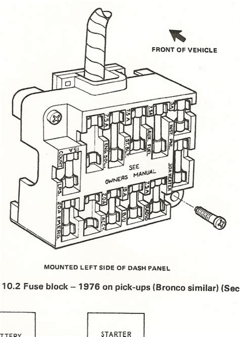 1978 ford f150 fuse box diagram fuse block 1976 ford truck enthusiasts forums inside