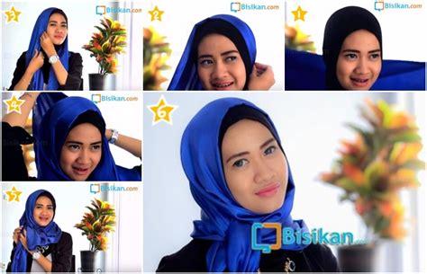 tutorial hijab  memakai jilbab pashmina ikat atas