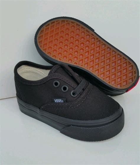 black shoes for baby vans authentic black black canvas infant toddler baby boy