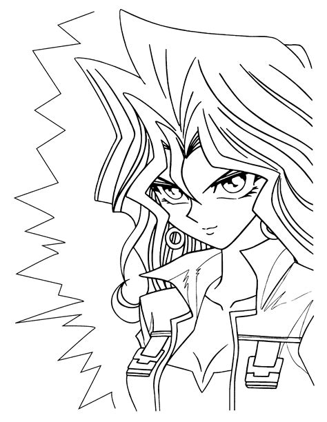 Coloring Page Yu Gi Oh Coloring Pages 35 Yugioh Coloring Page