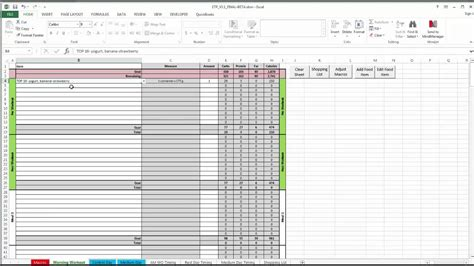 Meal Plan Spreadsheet by Etp Meal Planning Spreadsheet V3 0