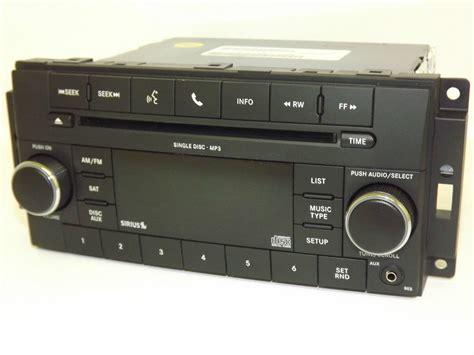jeep chrysler   radio  fm mp cd sirius satellite aux  pad  factory radio