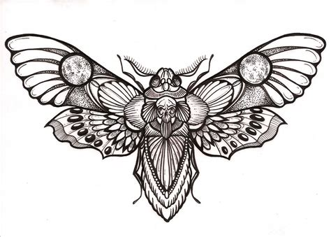 chest tattoo designs drawings awesome quot deaths quot hawk moth design my tats