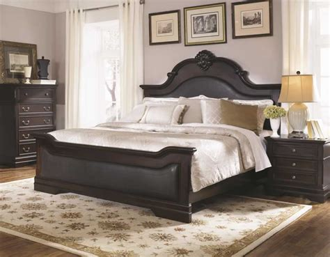 dark wood headboard furniture stores for solid wood traditional beds